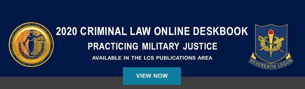 Criminal Law Online Deskbook